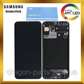 Дисплей Samsung A307 Samsung A30s с сенсором Черный Black оригинал , GH82-21190A