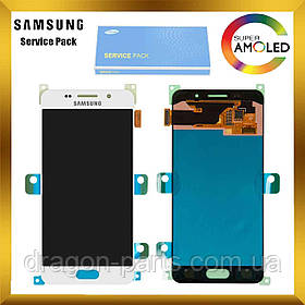 Дисплей Samsung A310 Galaxy A3 с сенсором Белый White оригинал , GH97-18249A