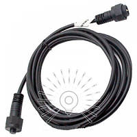 Подовжувач для гірлянди IP65 кабель 3м 2*0,75 мм (папа+мама) / LMA8012 Lemanso
