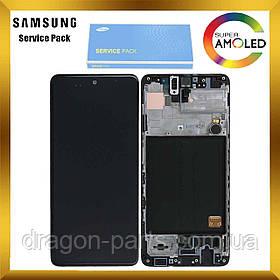 Дисплей Samsung A515 Samsung A51 с сенсором Черный, Белый, Голубой оригинал , GH82-21669A