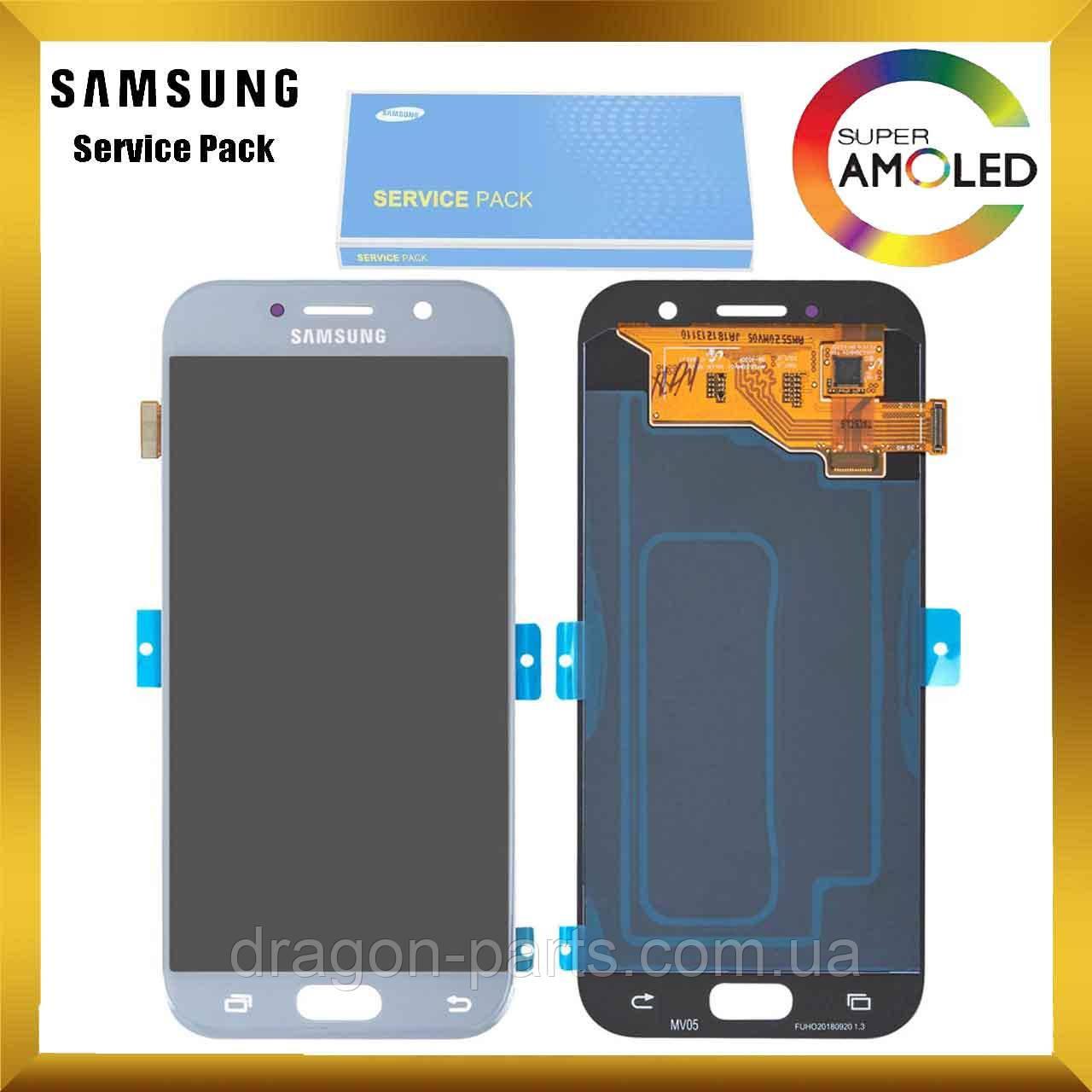 Дисплей Samsung A520 Galaxy A5 з сенсором Блакитний Blue оригінал , GH97-19733C
