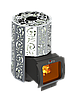 Дровяная печь для бани Grill'D Violet Steel Long Window Max (Жадеит 100кг)