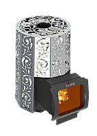 Дровяная печь для бани Grill'D Violet Steel Long Window Max (Жадеит 100кг), фото 1