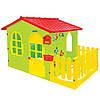 Будиночок ігровий дитячий пластиковий садовий Mochtoys з терасою для дітей