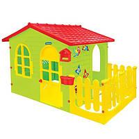 Будиночок ігровий дитячий пластиковий садовий Mochtoys з терасою для дітей, фото 1