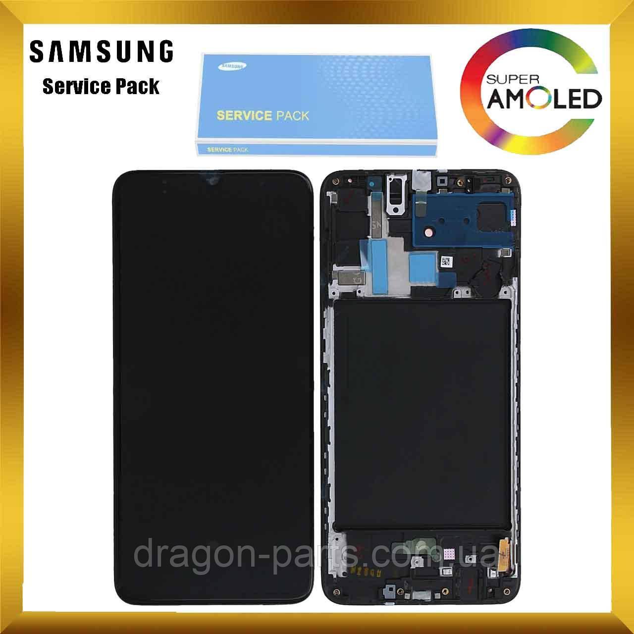 Дисплей Samsung A705 Galaxy A70 2019 с сенсором Черный Black оригинал , GH82-19747A