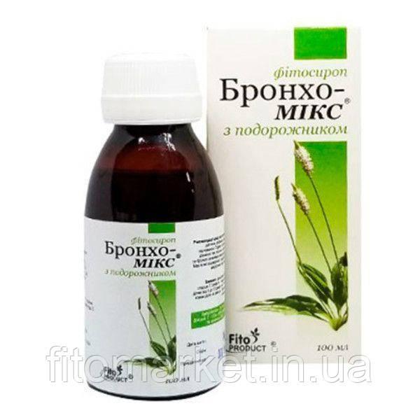 Бронхо-Микс с подорожником фитосироп 100 мл