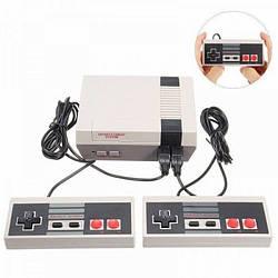 Ігрова приставка Mini NES + 620 ігор консоль з джойстиками Сіра