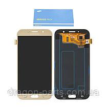 Дисплей Samsung A720 Galaxy A7 с сенсором Золотой Gold оригинал , GH97-19723B, фото 2