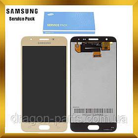 Дисплей Samsung G570 Galaxy J5 prime з сенсором Золотий Gold оригінал , GH96-10324A
