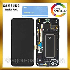 Дисплей Samsung G955 Galaxy S8 plus з сенсором Чорний Black оригінал , GH97-20470A