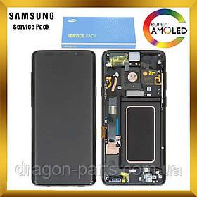 Дисплей Samsung G965 Galaxy S9 Plus с сенсором Черный Black оригинал , GH97-21691A