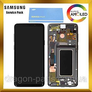 Дисплей Samsung G965 Galaxy S9 Plus з сенсором Сірий Titanium Gray оригінал, GH97-21691C, фото 2