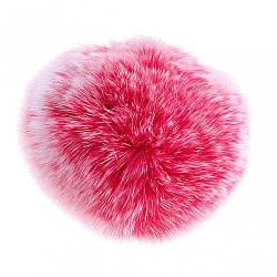 Брелок Бубон нат. хутро на резинці млосно рожевий