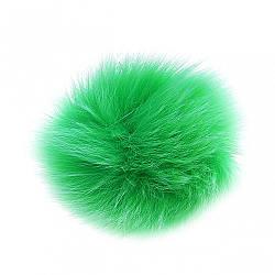 Брелок Бубон нат. хутро на резинці зелений