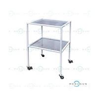 Столик медицинский инструментальный специальный на колесах, стол для медицинских инструментов СИС Завет