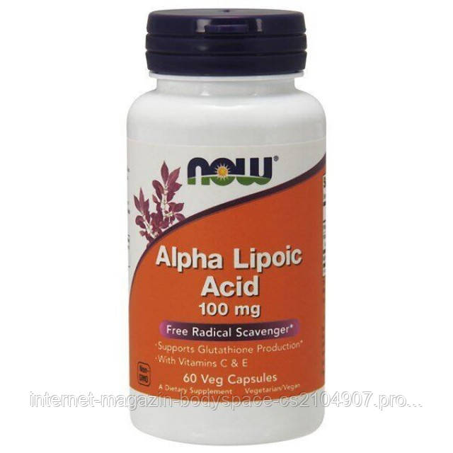 Now Foods, Alpha Lipoic Acid 100 mg, 60 капсул