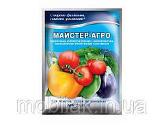 Водорозчине сухе добриво для томатів,перцю та бакл. 100г ТМ Майстер-Агро