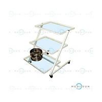 Стол манипуляционный медицинский, столик хирургический инструментальный передвижной, столик-этажерка СП Завет