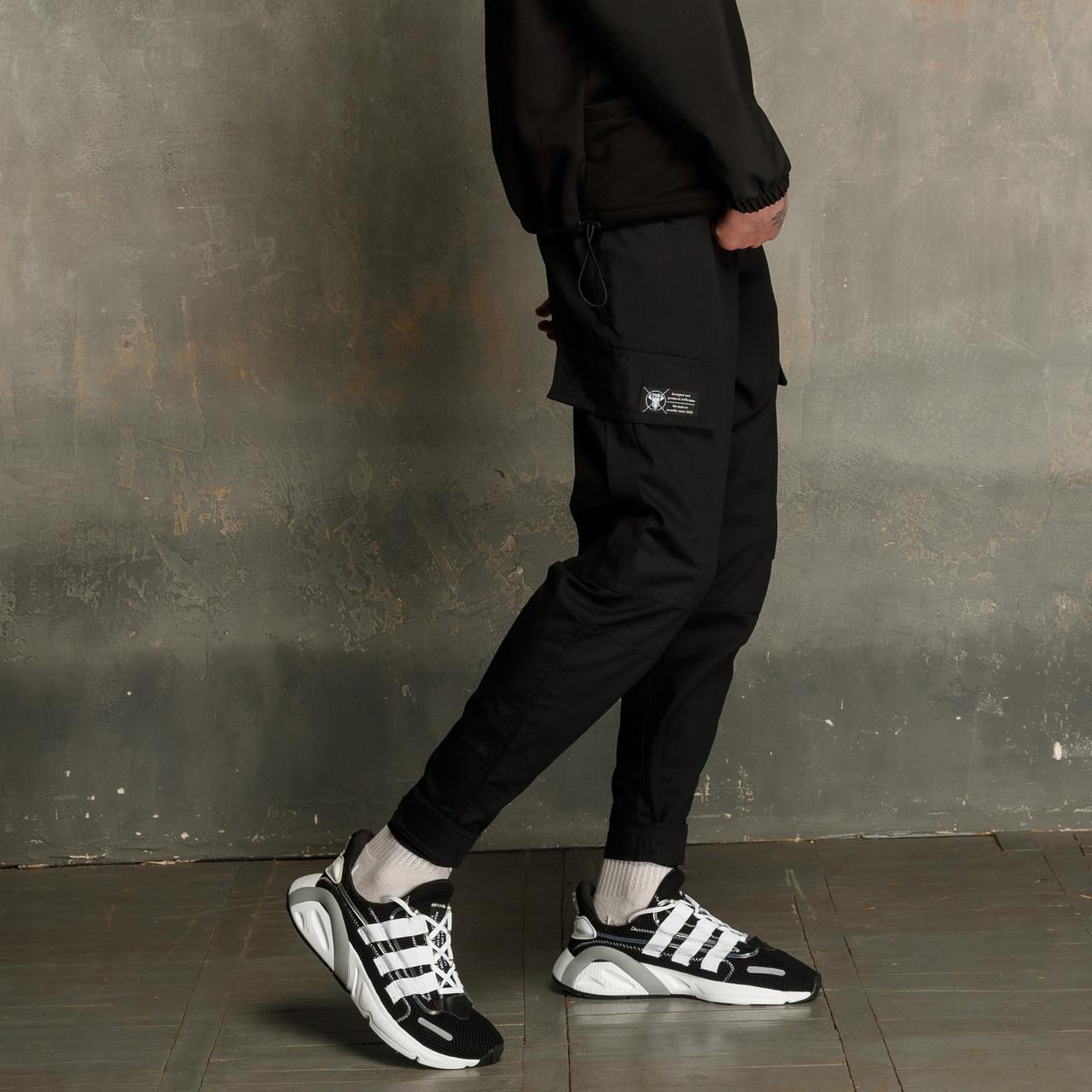 Зауженные карго штаны черные мужские от бренда ТУР Карнаж размер S, M, L, XL TURWEAR