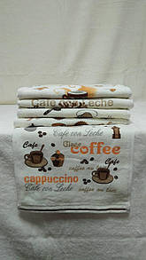 """Набір білих кухонних рушників 30х50 см """"Cappuccino"""", рушники для кухні"""