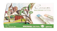 Пастель масляная 12 цветов Сонет Невская Палитра