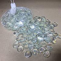 Камни для декора стеклянные прозрачные 380 гр