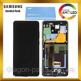 Дисплей Samsung G988 Galaxy S20 Ultra с сенсором Черный Cosmic Black оригинал , GH82-22271A