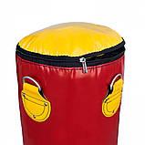 Боксерська груша для боксу (боксерський мішок) ПВХ OSPORT Lite 1.2 м (OF-0051) Червона, фото 2