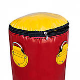 Боксерская груша для бокса (боксерский мешок) ПВХ OSPORT Lite 1.4м (OF-0052) Красная, фото 2