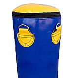 Боксерская груша для бокса (боксерский мешок) ПВХ OSPORT Lite 1.4м (OF-0052) Синяя, фото 2