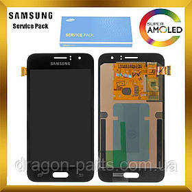 Дисплей экран Samsung J120 Galaxy J1 с сенсором Черный Black оригинал , GH97-18224C