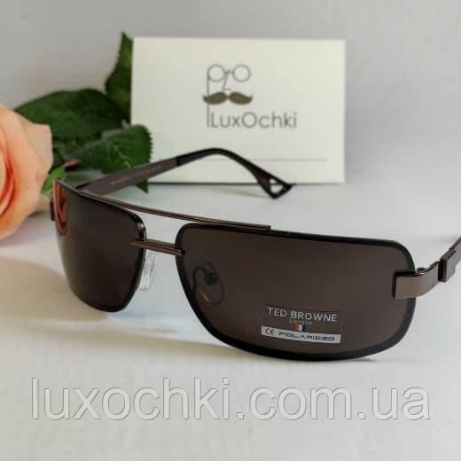 Стильні чоловічі сонцезахисні поляризовані окуляри Ted Browne класика