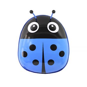 Детский рюкзак с твердым корпусом Lesko Ladybug 229 Blue для прогулок садика
