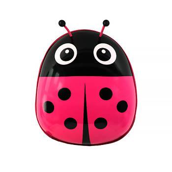 Детский рюкзак с твердым корпусом Lesko Ladybug 229 Pink для прогулок садика
