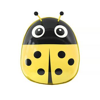 Детский рюкзак с твердым корпусом Lesko Ladybug 229 Yellow для прогулок садика