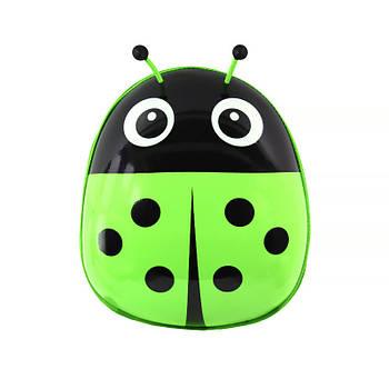 Детский рюкзак с твердым корпусом Lesko Ladybug 229 Green для прогулок садика