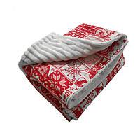 Ковдра плед для новонародженого з плюшу, ковдру для дитини в пологовий будинок червоне