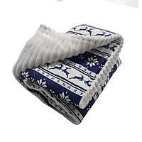 Ковдра плед для новонародженого з плюшу, ковдру для дитини в пологовий будинок червоне Синє з оленями