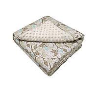 Ковдру для новонародженого на весну, плед для малюка у візок Ніжні гілочки