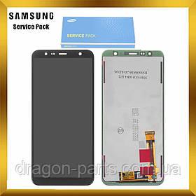 Дисплей Samsung J4+ Galaxy J415 2018 Чорний Black GH97-22582A, оригінал