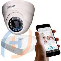Система видеонаблюдения на 4 камеры DAHUA, 2 мп