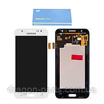 Дисплей Samsung J500 Galaxy J5 з сенсором Білий White оригінал , GH97-17667A, фото 2