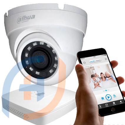 Система відеоспостереження на 8 камер DAHUA, 2 мп