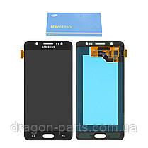Дисплей Samsung J510 Galaxy J5 з сенсором Чорний Black оригінал , GH97-18792B, фото 2