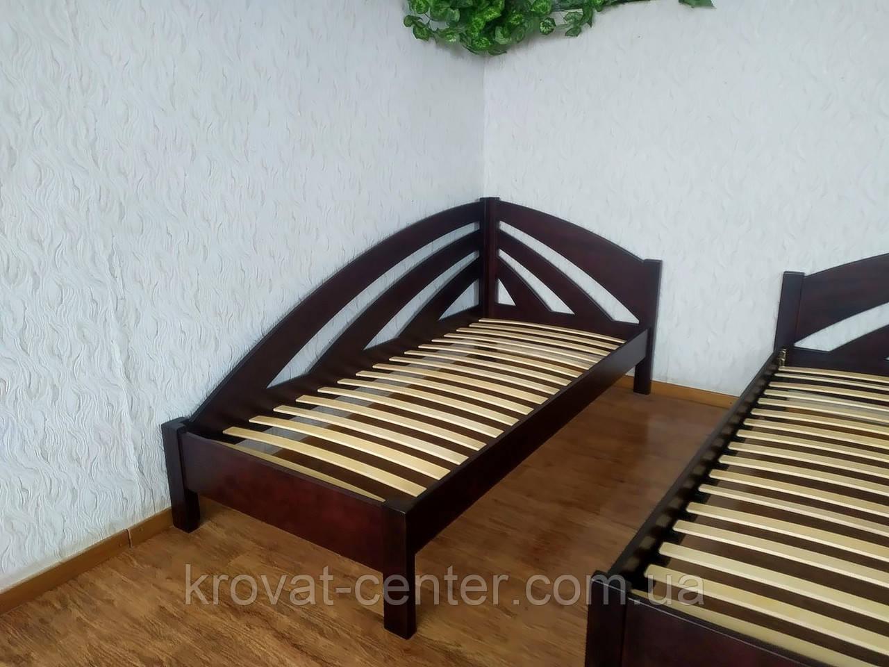"""Детская кровать угловая из дерева """"Радуга"""" (цвет на выбор)"""