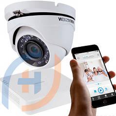 Система видеонаблюдения на 4 камеры HIKVISION, 2 мп