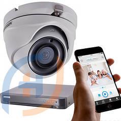 Система видеонаблюдения на 4 камеры с аналитикой HIKVISION, 5 мп