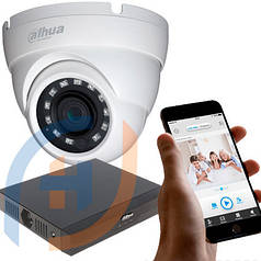 Система видеонаблюдения на 4 камеры DAHUA, 5 мп