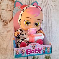 Детская говорящая игрушка пупс Baby Lovely малышка с пустышкой аналог Cry Babies Dotty настоящие фото